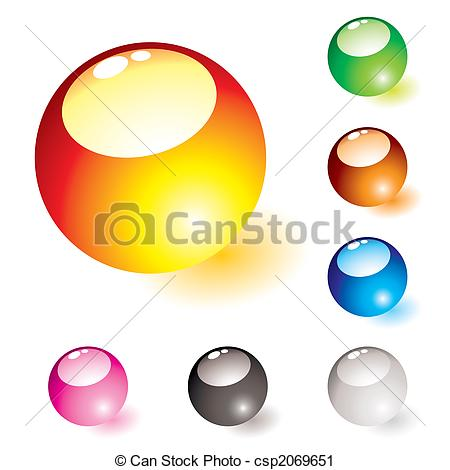 Clipart of marble shine glow.