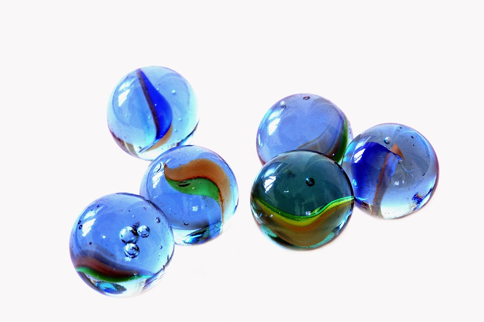 Glass, Marbles.
