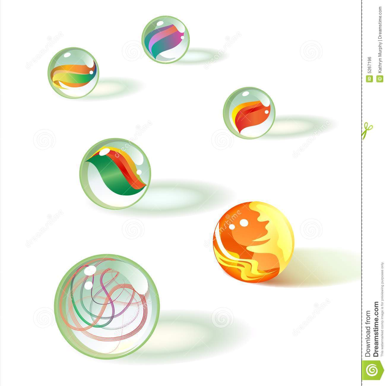 Glass marbles clipart #9