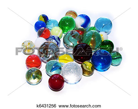 Stock Images of glass marbles k6431256.