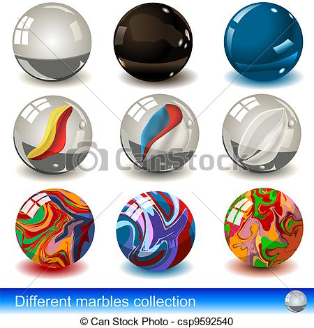 Vector Clipart of Vevtor marbles collection.