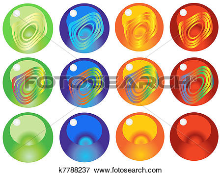 Clip Art of glass marbles k7788237.