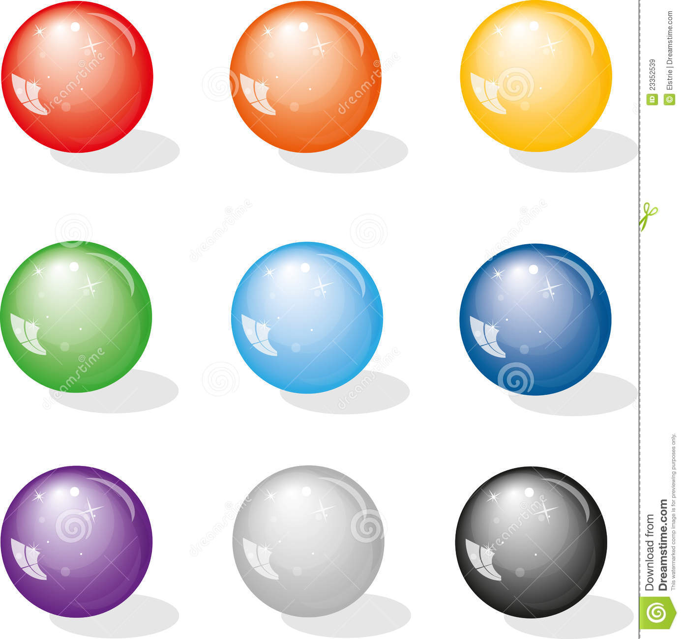 Glass marbles clipart #16