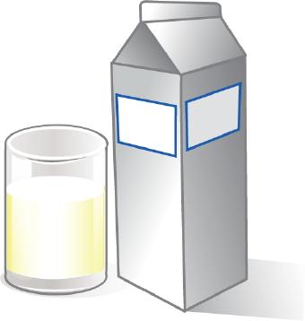 Glass milk clipart #5