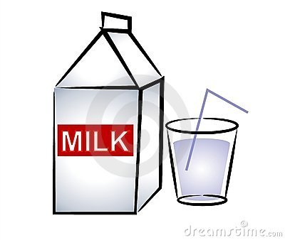 Glass Of Milk Clipart.