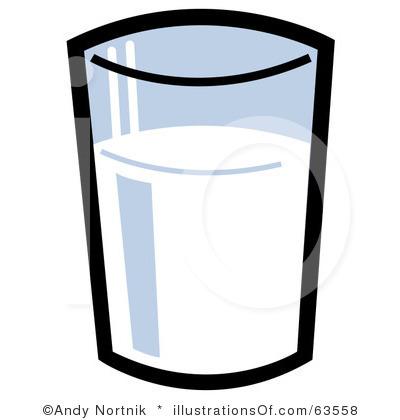 Glass milk clipart #16