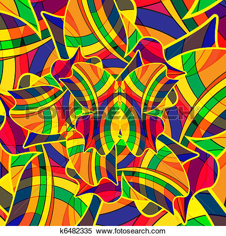 Clipart of Abstract colourful background from a multi.