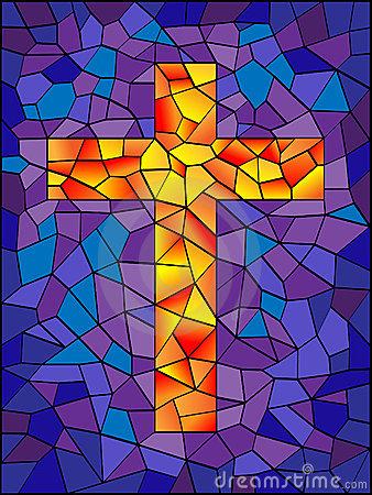 Mosaic Cross Clip Art.