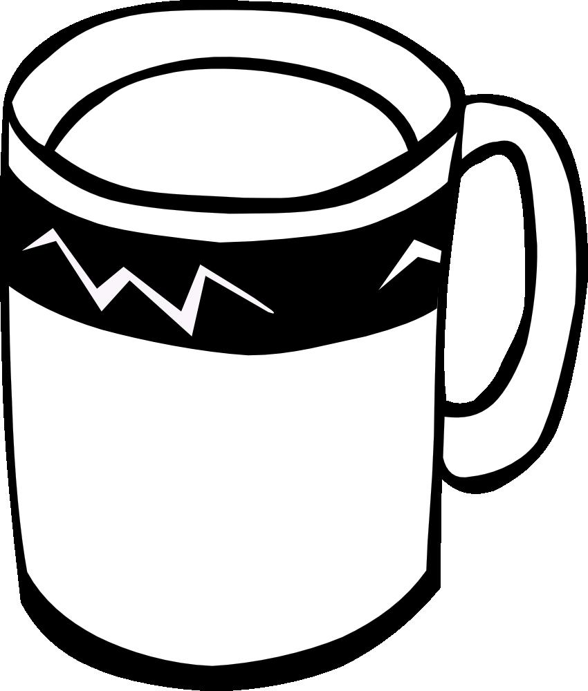 Mug Black And White Clipart.
