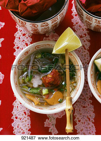 Picture of Chinese hot and sour soup with glass noodles 921487.