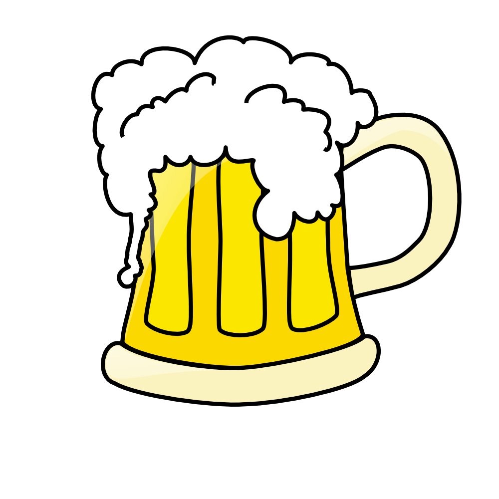 Glass of beer clipart.