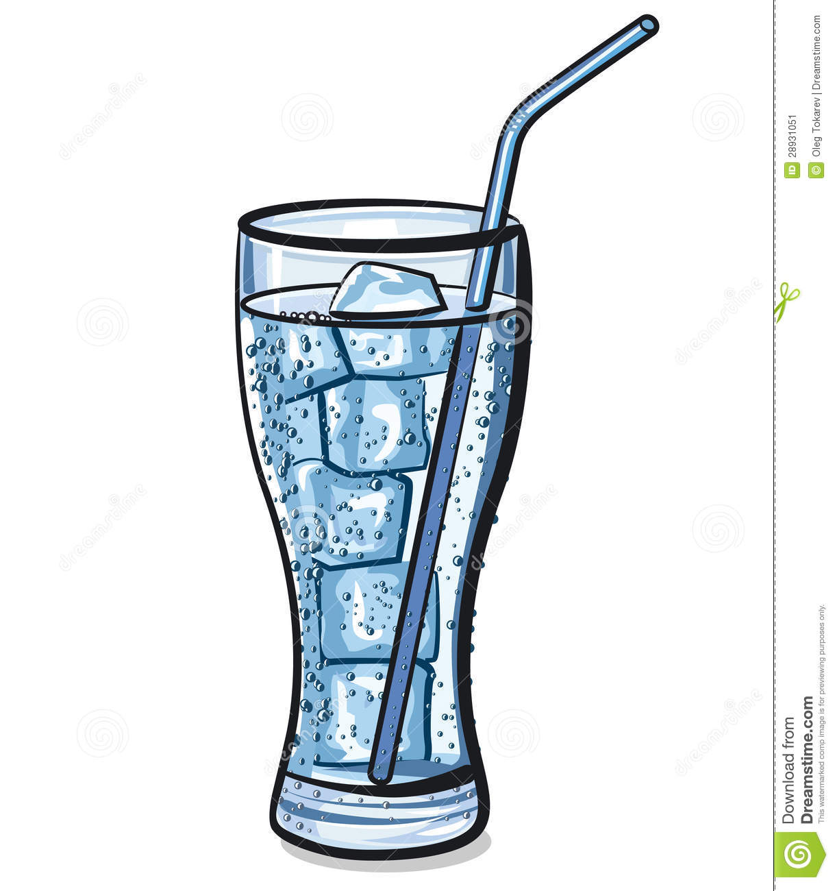 Glass Of Ice Water Clipart.