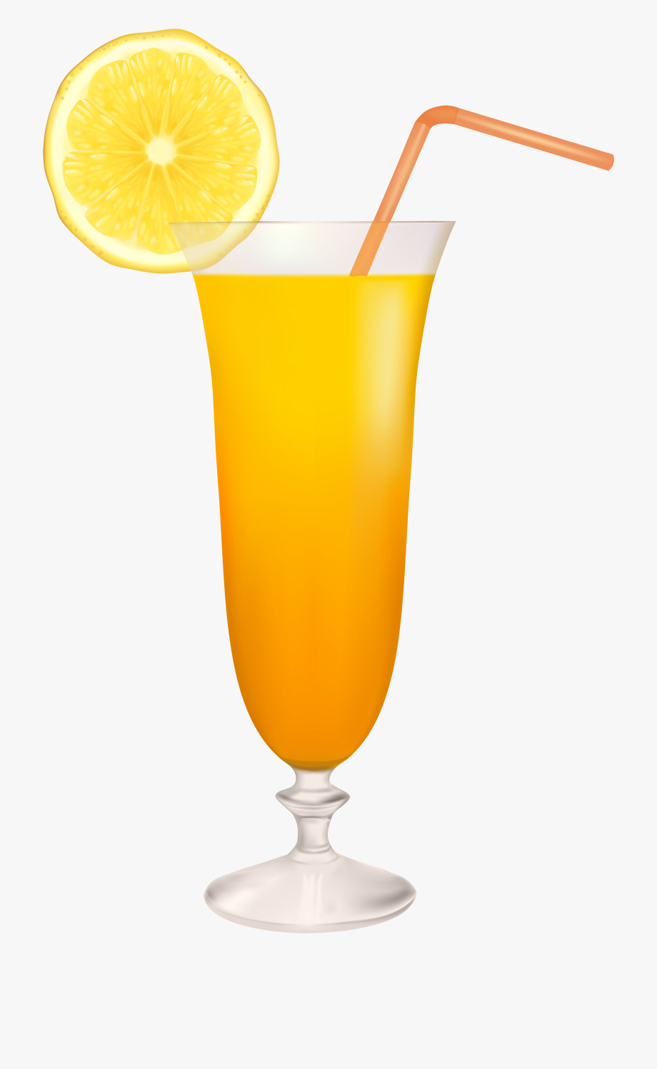 Cocktail Glass With Lemon Png Clipart.