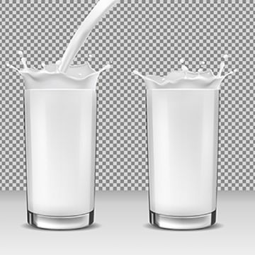 Milk Glass PNG Images.