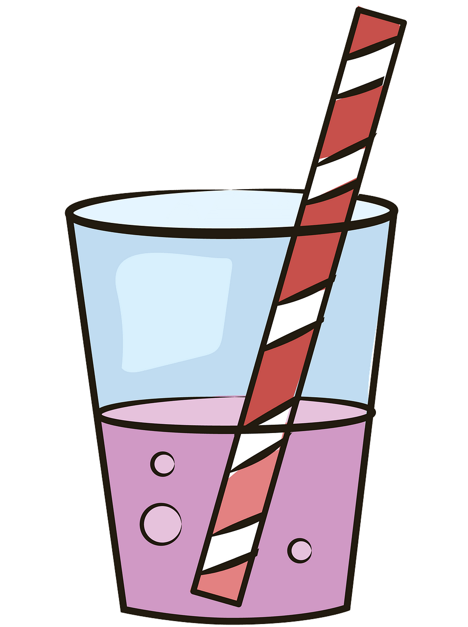 Glass of soda clipart. Free download..