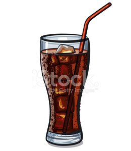 glass of cola Clipart Image.