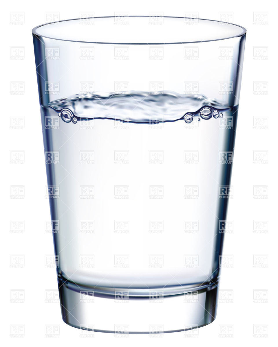 Water In A Glass Clipart.