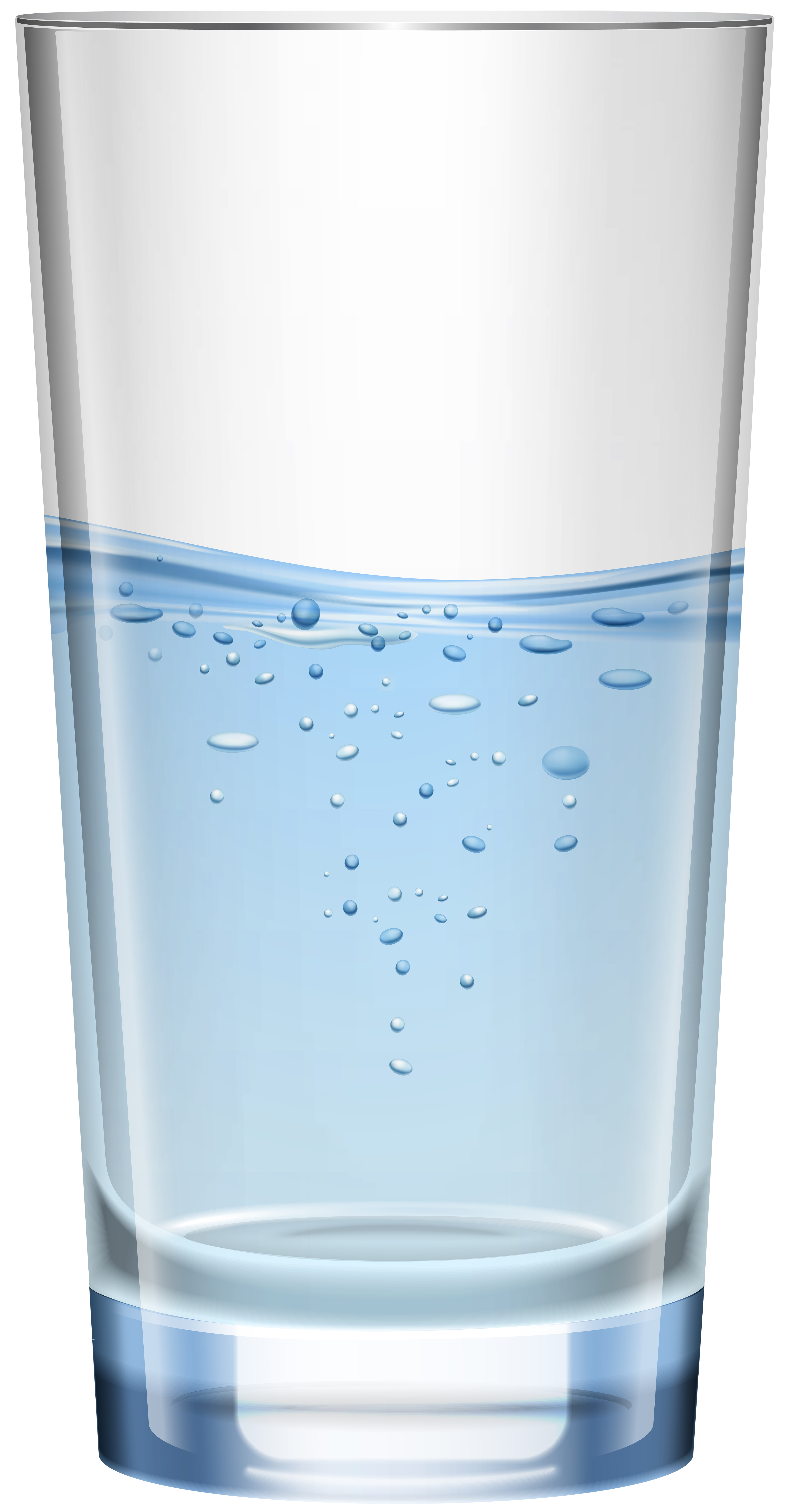 Glass of Water PNG Clip Art.