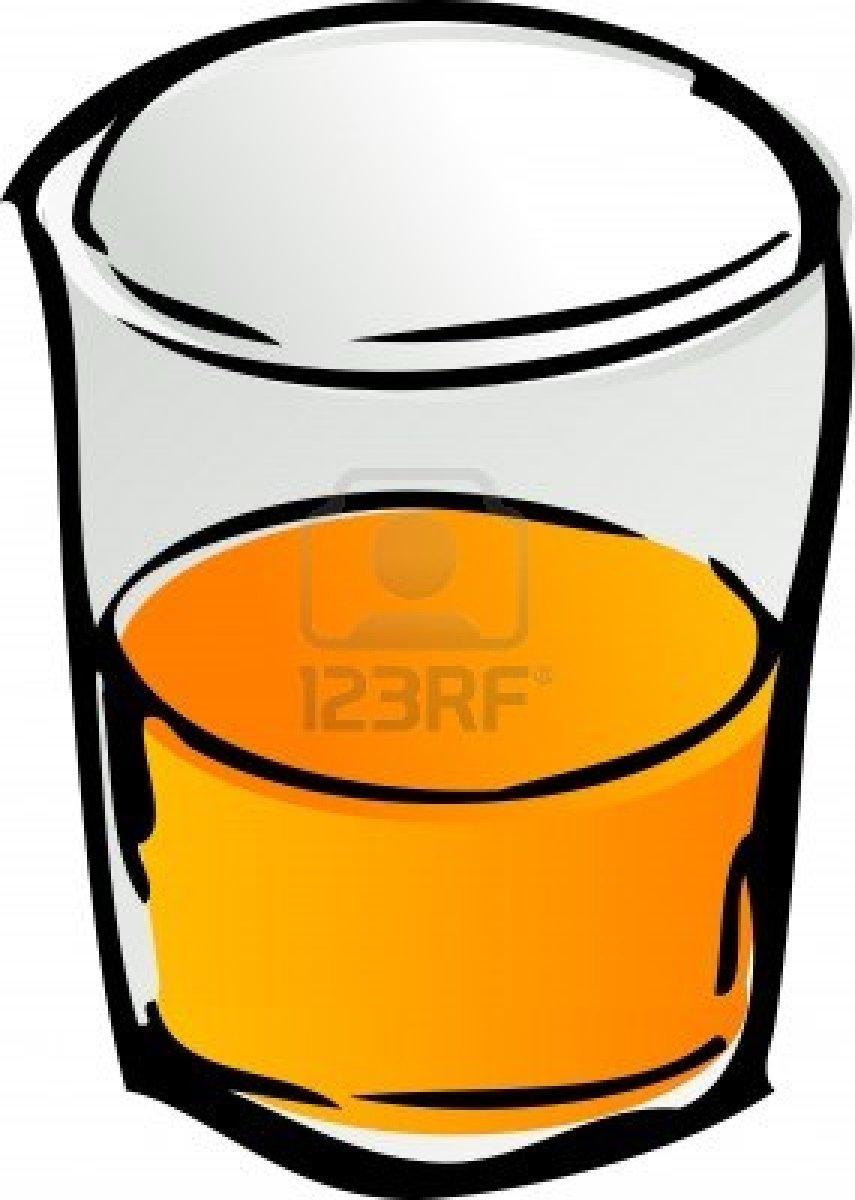Glass Of Orange Juice Clipart.