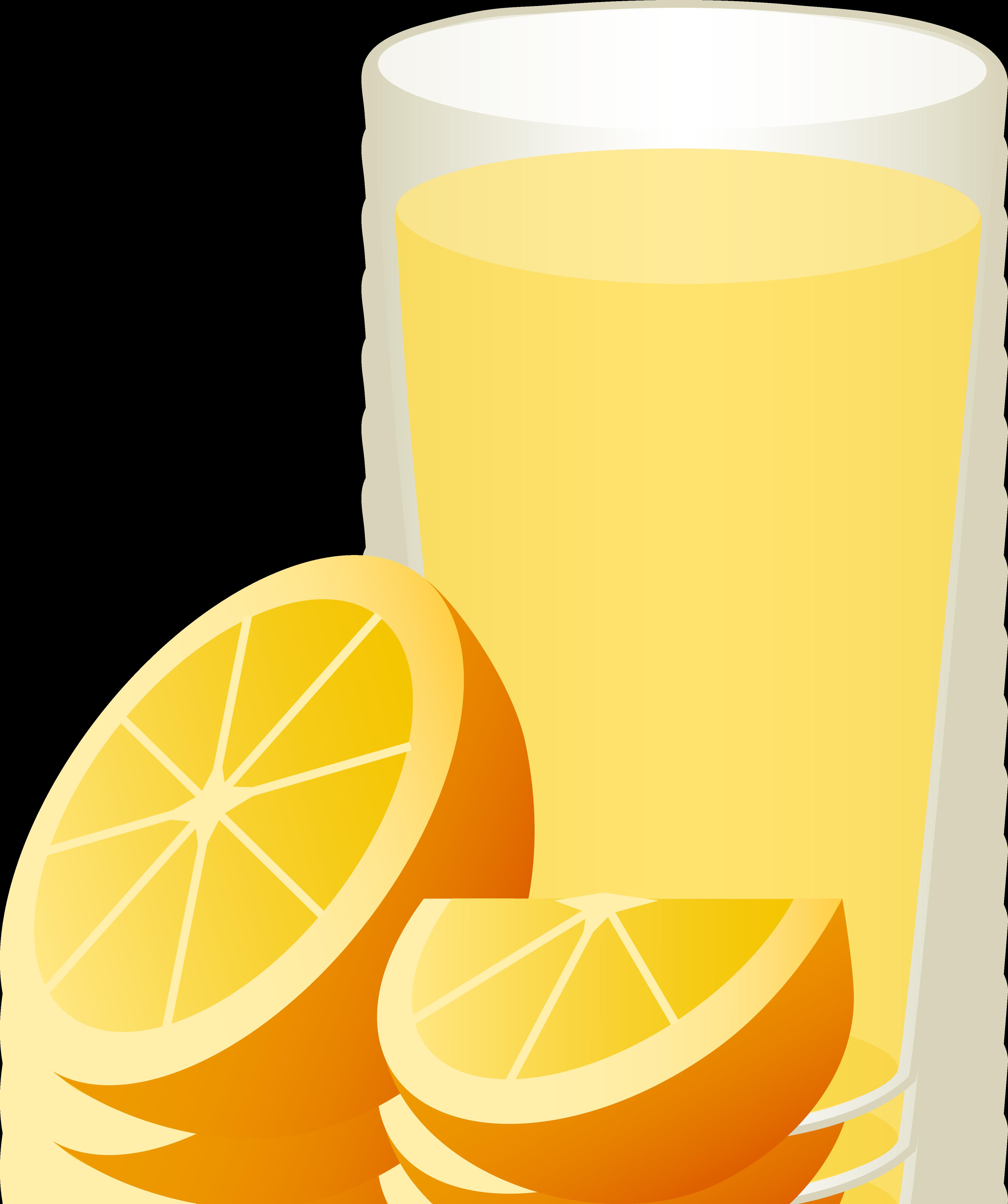 Glass of Orange Juice With Sliced Fruit.
