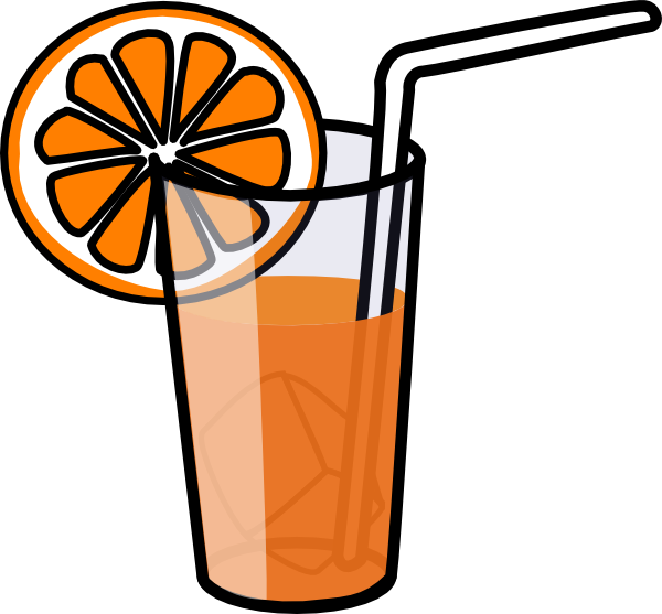 Glass Of Orange Juice Clipart.