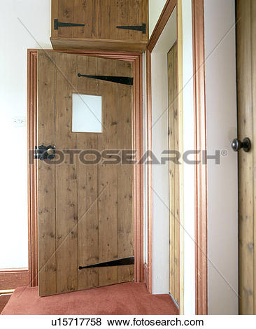 Pictures of Pine front door with small glass panel in traditional.