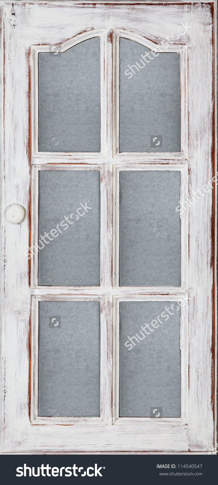 Old Wood Door Panel Glass White Stock Photo 114540547.