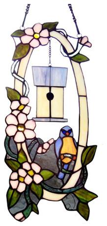 14729 Blue Bird Casa Glass Panel.