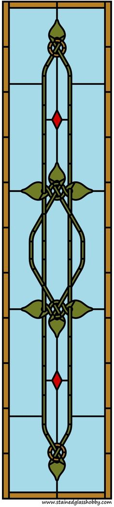 Stained glass door panel pattern.