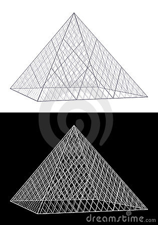 Louvre Pyramid Clip Art.