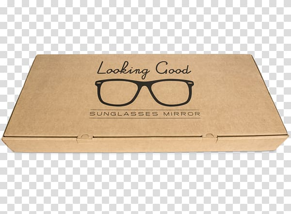 Box Sunglasses Packaging and labeling, Mirror Glass.