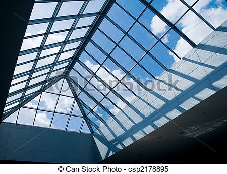 Stock Images of glass roof.