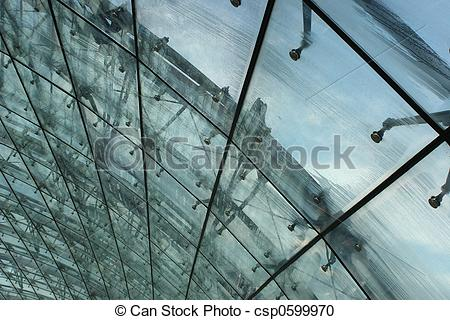 Stock Photography of Glass Roof in the ra.