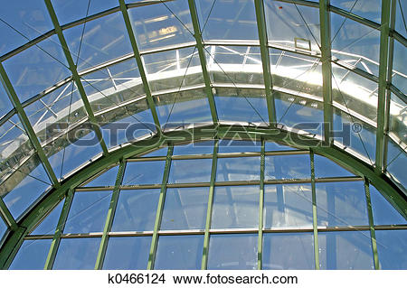 Stock Photo of Glass Roof k0466124.