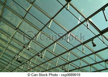 Stock Photographs of modern glass roof csp0689919.