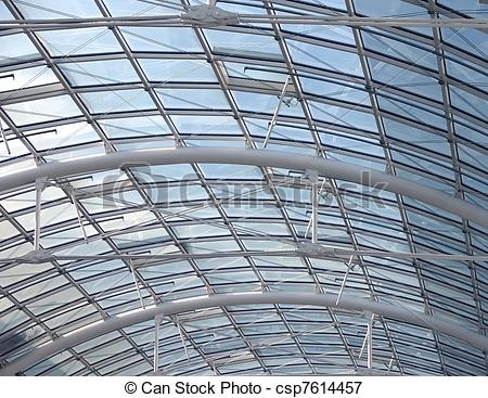 Picture of glass roof detail.