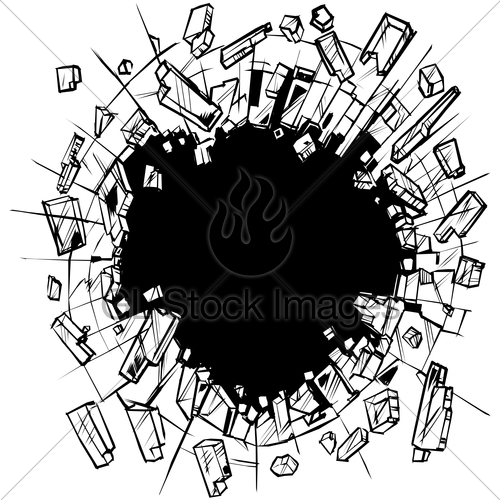 Hole In Shattering Glass Vector Clip Art · GL Stock Images.