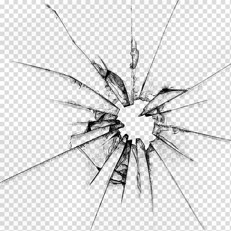Cristal Roto, shattered glass transparent background PNG.