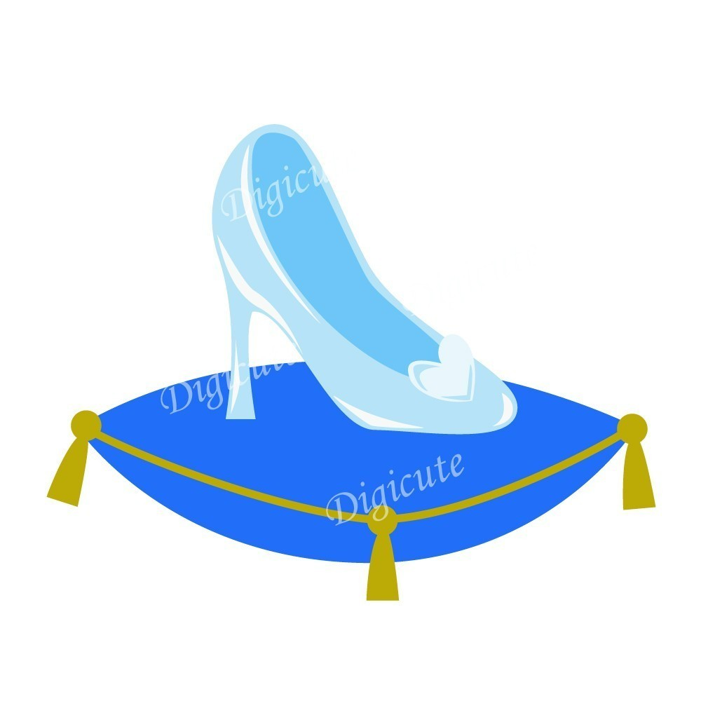 Disney Princess Cinderella's Glass Slipper Digital Clip.