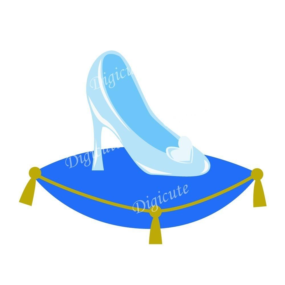 Disney Princess Cinderella's Glass Slipper Digital Clip.