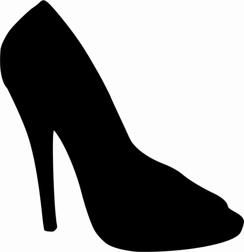 Outline Of A Shoe.