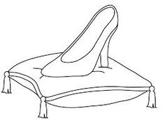 cinderella glass slipper template.