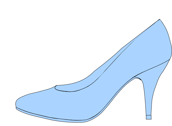 Blue Shoe Clip Art at Clker.com.