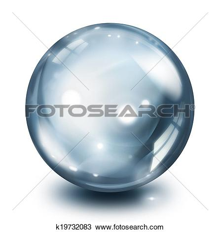 Drawing of glass sphere pearl k19732083.