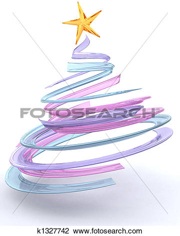 Clip Art of Glass spiral Christmas tree k1327742.