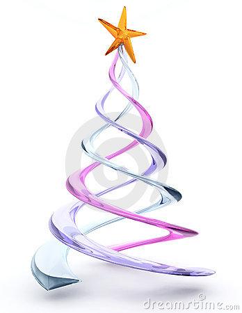 Spiral christmas tree clip art.
