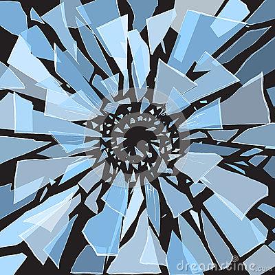 Shards Of Glass Stock Photo.
