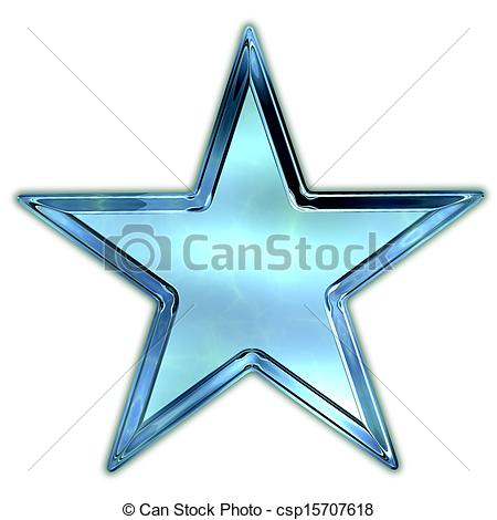 Clipart of Glass star. csp15707618.