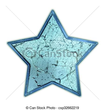 Clipart of Cracked glass star csp32662219.