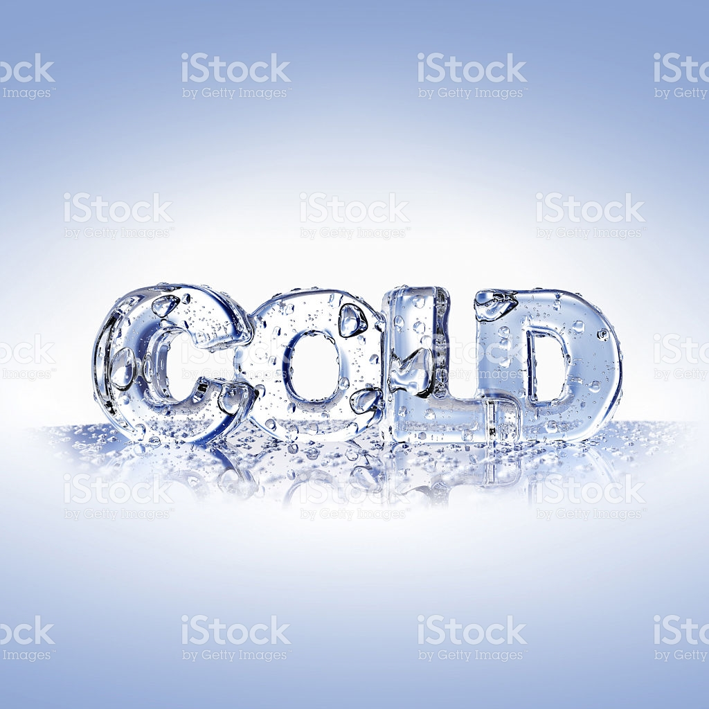 Cold Letters On A Blue Glass Surface stock vector art 518700819.